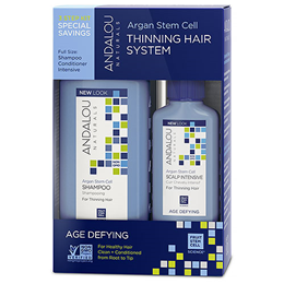 Andalou Argan Stem Cell Age Defying Thinning Hair 3 Step System