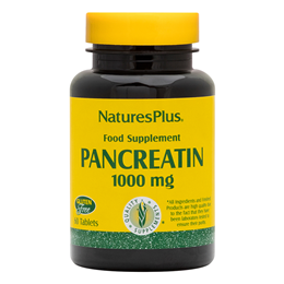 Nature`s Plus Pancreatin - 60 x 1000mg Tablets