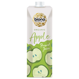 Biona Organic Apple Juice - Pressed - Carton - 1 Litre