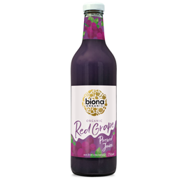 Biona Organic Red Grape Juice - Pressed - 1 Litre