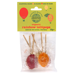 Biona Organic Rainbow Lollipops - 6 Pack - 50g