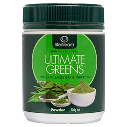 Lifestream Ultimate Greens - Ultimate Nutritional Boost - 180g Powder