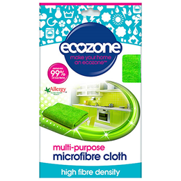 Ecozone Multi-Purpose Microfibre Cloth - 1 Pack