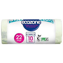 Ecozone Compostable 10Ltr Caddy Liners - 22 Bags