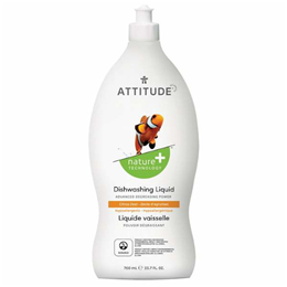 ATTITUDE Washing Up Liquid - Citrus Zest - 700ml