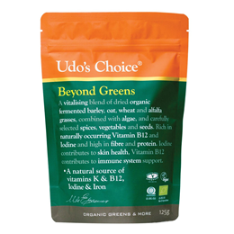 Udos Choice Beyond Greens - 100% Organic - 125g