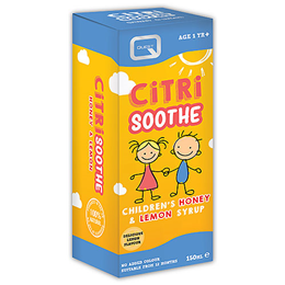 Quest Citri Soothe Honey & Lemon Syrup - For Children - 150ml
