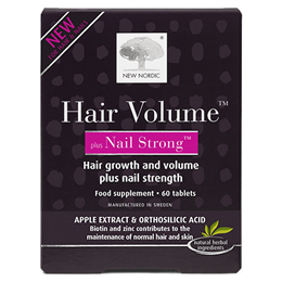 New Nordic Hair Volume Plus Nail Strong - 60 Tablets - Best before date is 30th April 2021