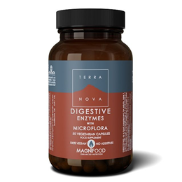 TERRANOVA Digestive Enzymes with Probiotics Complex - 50 Vegicaps