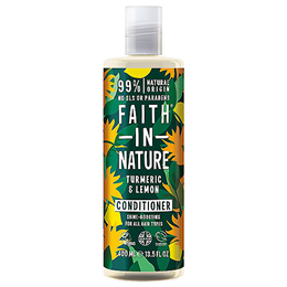 Faith in Nature Turmeric & Lemon Shine-Boosting Conditioner for All Hair Types - 400ml