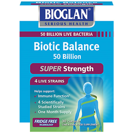 Bioglan Biotic Balance - 50 Billion Live Bacteria - 30 Capsules