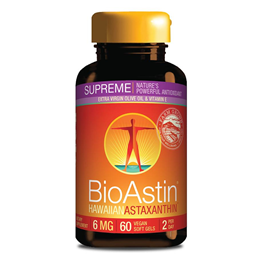 Nutrex BioAstin Supreme - Astaxanthin Supplement - 60 x 6mg VegiGels