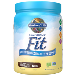 Garden of Life Raw Organic Fit - Chocolate - 461g - Best before date is 29th February 2020