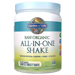 Garden of Life Raw Organic All-In-One Shake - Lightly Sweet - 519g Powder