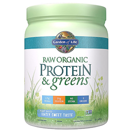 Garden of Life Raw Organic Protein & Greens - Lightly Sweet - 488g