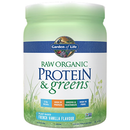 Garden of Life Raw Organic Protein & Greens - French Vanilla - 411g Powder
