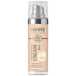 lavera Tinted Moisturising Cream 3IN1 Q10 in Ivory Light 01 - 30ml
