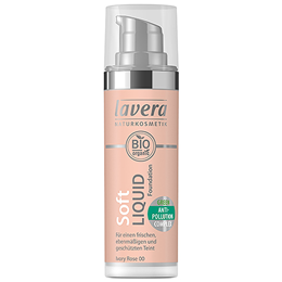lavera Organic Soft Liquid Foundation - Ivory Rose 00 - 30ml