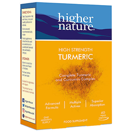 Higher Nature High Strength Turmeric - 60 Vegicaps
