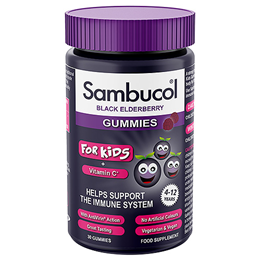 Sambucol for Kids - Black Elderberry + Vitamin C - 30 Gummies