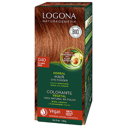 LOGONA Herbal Hair Colour Powder - 040 Flame Red - 100g