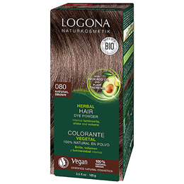 LOGONA Herbal Hair Colour Powder - 080 Natural Brown - 100g