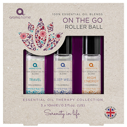 Aroma Home Essential Oil On the Go Roller Ball Collection - 3 x 10ml
