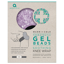 Aroma Home Lavender Soothing Knee Wrap - Therapeutic Gel Beads