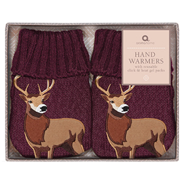 Aroma Home Burgundy Highland Stag Hand Warmers