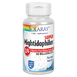 Solaray Super Mightidophilus 24 Strain Formula - 30 Billion CFU - 60 Vegicaps