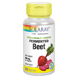 Solaray Organically Grown Fermented Beetroot - 100 Vegicaps
