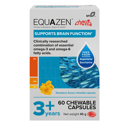 Equazen Children`s Chews - Omega 3 & Omega 6 - 60 Strawberry Flavoured Caps