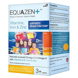 Equazen+ Kids Multivitamin - Omega 3 & Omega 6 - 60 Tropical Flavoured Chewies