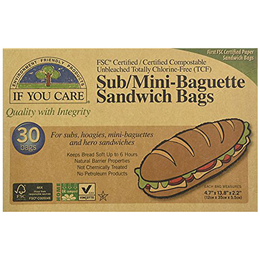 If You Care Sub/Mini Baguette Sandwich Bags - 30 Pack