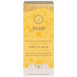 Khadi Natural Semi-Permanent Hair Colour Powder - Hint of Gold - 100g