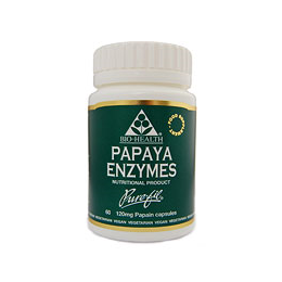 Bio Health Papaya Enzymes - Papain - 60 x 120mg Vegicaps