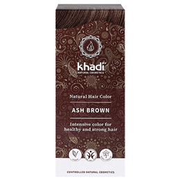 Khadi Natural Permanent Hair Colour Powder - Ash Brown - 150g