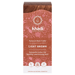 Khadi Natural Semi-Permanent Hair Colour Powder - Light Brown - 100g