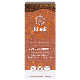 Khadi Natural Permanent Hair Colour Powder - Golden Brown - 100g
