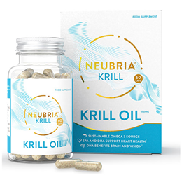 Neubria Krill - Omega 3 - 60 Capsules - Best before date is 30th April 2021