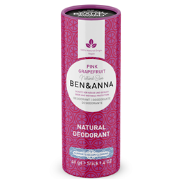 Ben & Anna Pink Grapefruit Natural Soda Deodorant Stick - 60g
