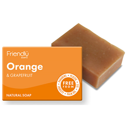 Friendly Soap Orange & Grapefruit Bar Soap - 95g