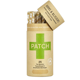 PATCH Natural Bamboo Strip Bandages with Aloe Vera - 25 Pack