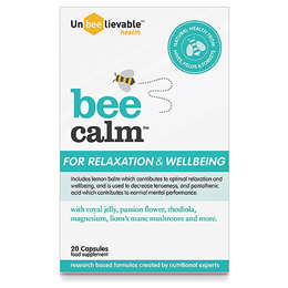 UnBEElievable Health Bee Calm - For Relaxation & Wellbeing - 20 Capsules