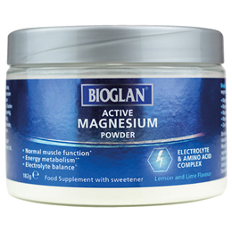 Bioglan Active Magnesium Powder - 182g - Best before date is 31st January 2021