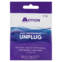 Motion Nutrition UNPLUG: Night Time Nootropic - 3 Day Trial Pack