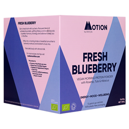 Motion Nutrition Fresh Blueberry Morning Protein Powder - 12 x 30g
