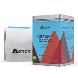 Motion Nutrition CREAMY CACAO: Whey Protein Powder - 12 x 30g