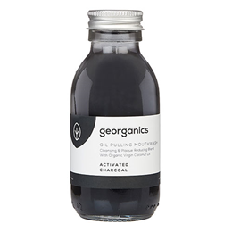 Georganics Oil Pulling Activated Charcoal Mouthwash - 100ml