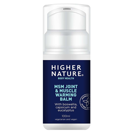 Higher Nature MSM - Joint and Muscle Warming Balm - 100ml